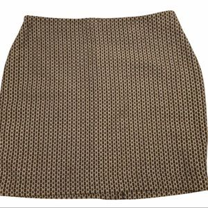 Banana Republic Factory black tan skirt NWT 12P